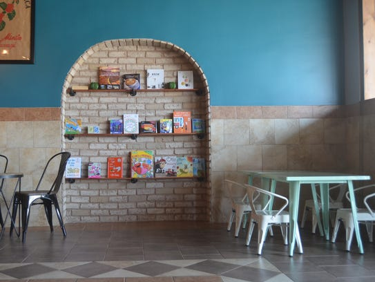 Milo Coffee House includes a children's area with books