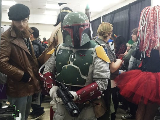 "Don Bickel, of Harrisburg, dresses as Boba Fett from ""Star Wars: Episode VI Return of the Jedi"" during Central PA Comic Con March 5."