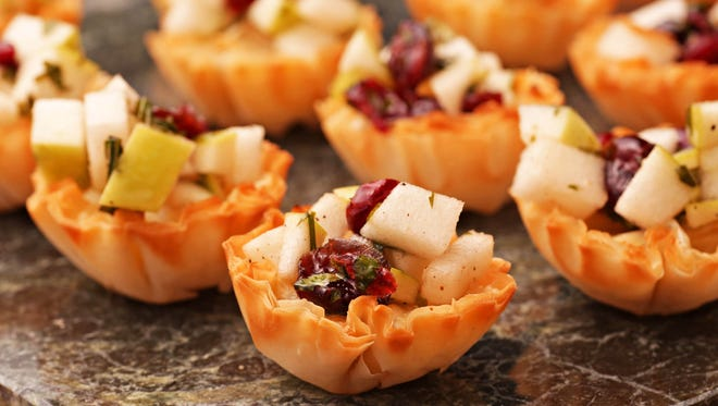 Brie Tartlets with Cranberry-Apple Relish.