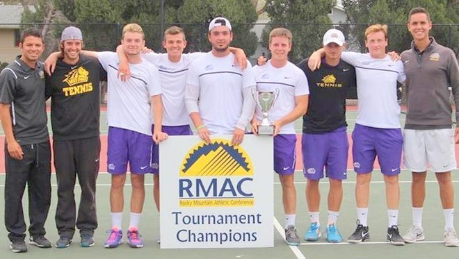 The WNMU men's tennis team finished the conference season undefeated. Following their 4-0 regular season tally and 2-0 conference mark, WNMU leaves the RMAC having gone 37-0 in regular season matches and 14-0 in tournament play over the past seven years in which they have won both titles.