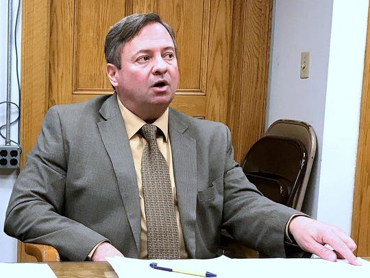 Elmira Mayor Dan Mandell addresses accusations by Chemung County officials that the city is responsible for its own financial struggle, in January.