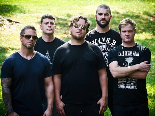 Grindcore band Pig Destroyer performs at the Haunt on Saturday.