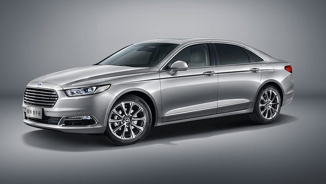 Ford Motor showed a new version of its Taurus big car exclusively for the China market at the 2015 Shanghai auto show. The car's 6 in. shorter than a U.S. Taurus, but has a 4-in. longer wheelbase for more interior room, especially in the back seat area, where owners often ride in China, instead of driving themselves.