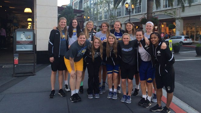 SDSU women's basketball team in California.