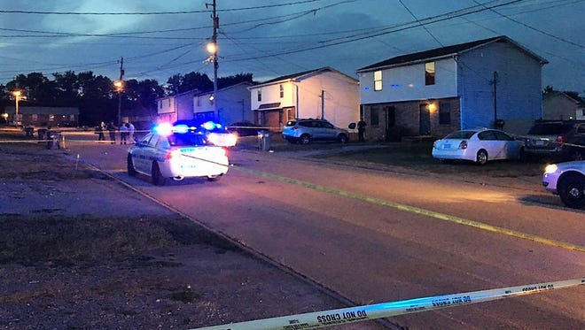 Metro police are investigating after a shooting Monday that left a man dead and a woman hurt.