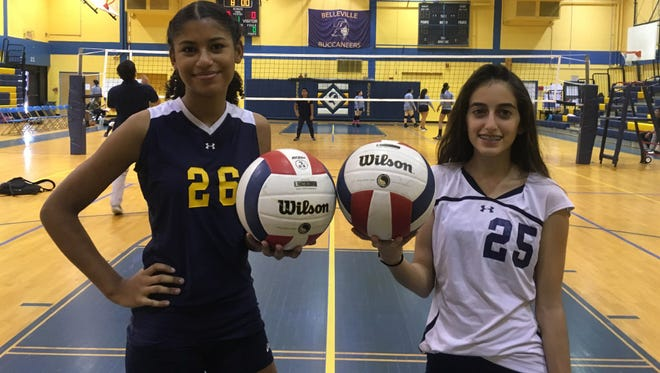 Sasha Rosario (left) and Fiorella Samaniego helped Belleville make strides this fall.
