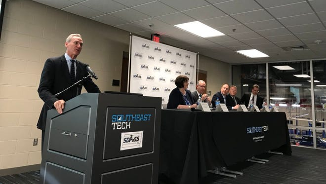 South Dakota governor Dennis Daugaard announces a new SDPASS initiative that will offer students different options to find a career in cyber security, or network security and administration.
