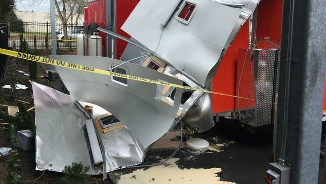 A Beaverton food cart exploded Wednesday.
