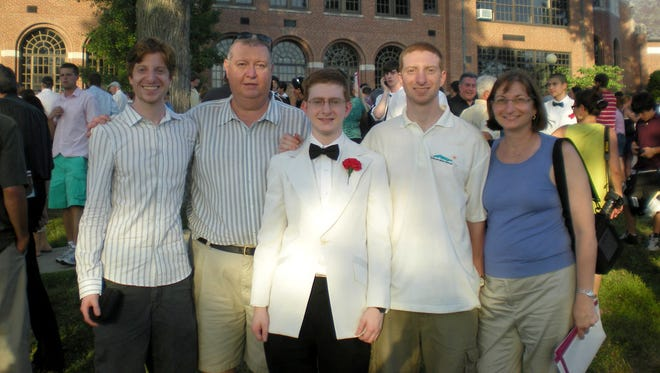 Tyler Clementi, 18, center, with parents Joe and Jane and brothers James and Brian, at  Ridgewood (N.J.) High School in 2010.