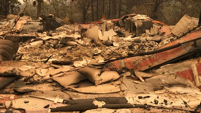 The Carr Fire devastated homes in the Muletown Road area.
