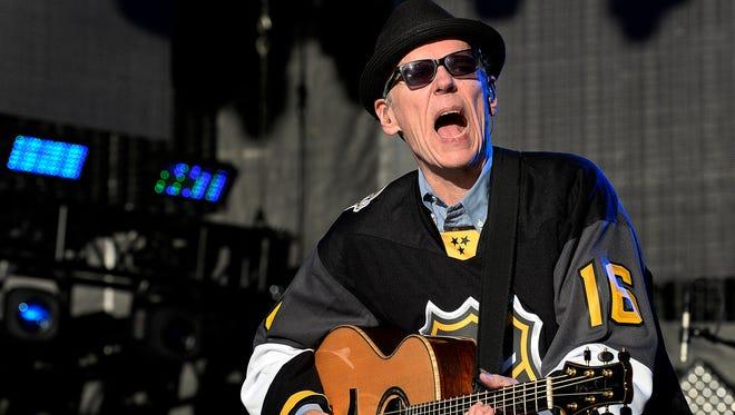 John Hiatt performs during the NHL All-Star Outdoor Concert Series at the Bridgestone Winter Park on Friday, Jan. 29, 2016, in Nashville.