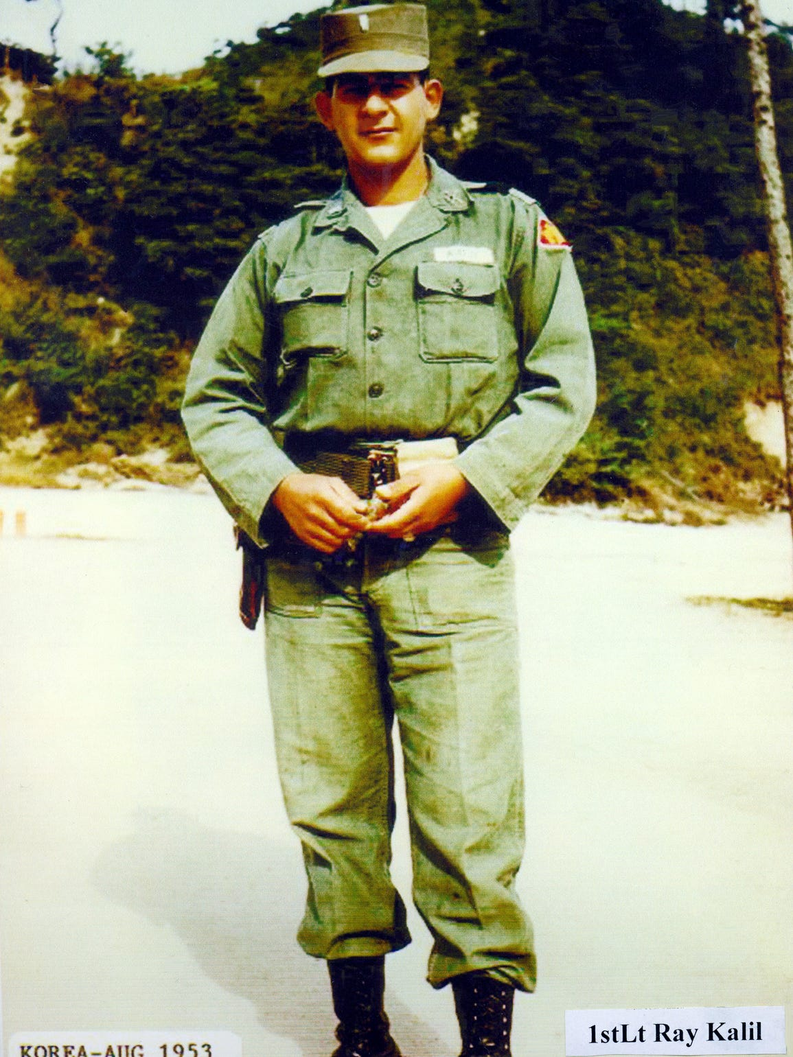 First Lt. Ray Kalil in Korea, August 1953.