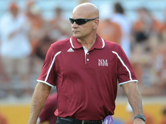 Doug Martin is the head coach of the New Mexico State