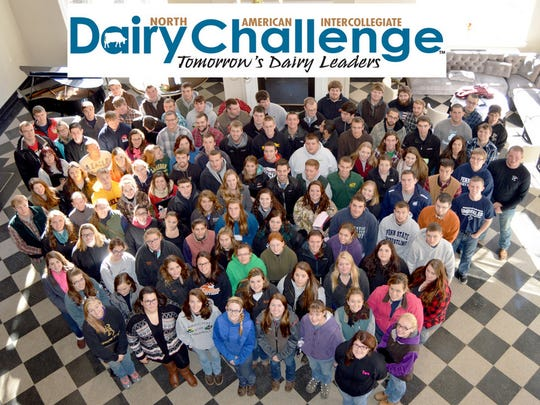 Students attending the 2016 Northeast Dairy Challenge