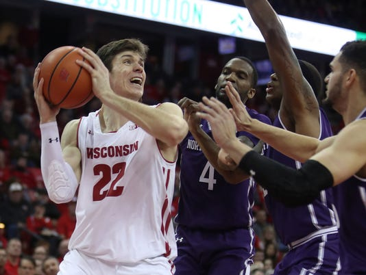 NCAA Basketball: Northwestern at Wisconsin