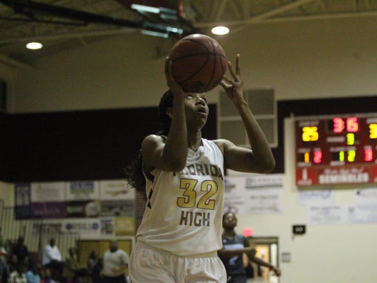 Florida High junior forward Sarah McCrackin scored