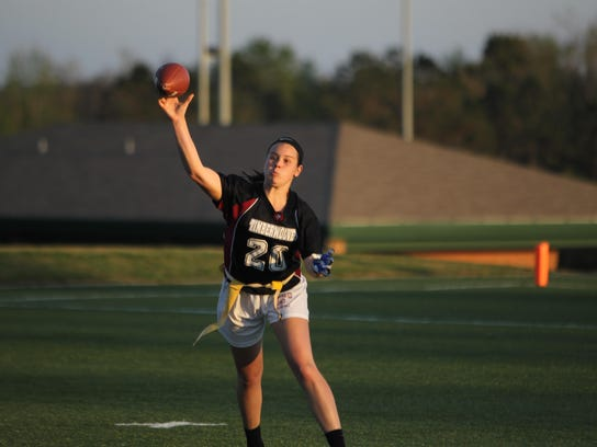 Chiles quarterback Allee Auringer fires a pass during