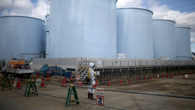 Tanks holding radiation contaminated water at the Tokyo Electric Power Co.'s embattled Fukushima Daiichi nuclear power plant  on February 25, 2016 in Okuma, Japan.