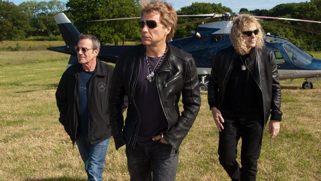 Tico Torres, Jon Bon Jovi and David Bryan of Bon Jovi.