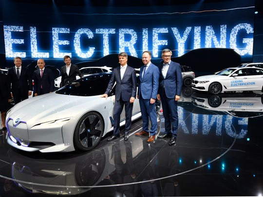 The BMW board, from left, Milagros Caina Carreiro-Andree,