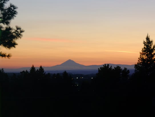 Sunrise over the Willamette Valley Monday morning.