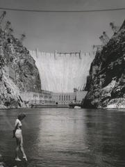 Hoover Dam, known as one of the world's largest electrical power plants, is shown in this 1957 photo.