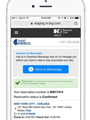 IHG will begin a pilot program to communicate with hotel guests via Facebook Messenger.