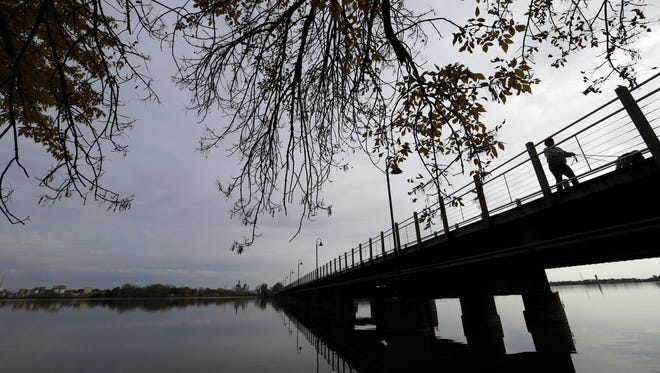 One end of the Fox Cities Trestle Trail bridge is in the Town of Menasha, where some residents will be vote whether to incorporate into a village.