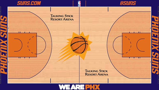 The Suns are going back to a purple border around the court.
