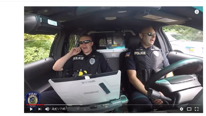The Evans (Erie County) PD is the latest police department to take part in the 2018 lip sync challenge.