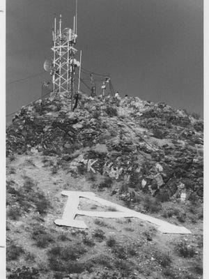 Arizona State's 'A' on Tempe Butte in 1989.