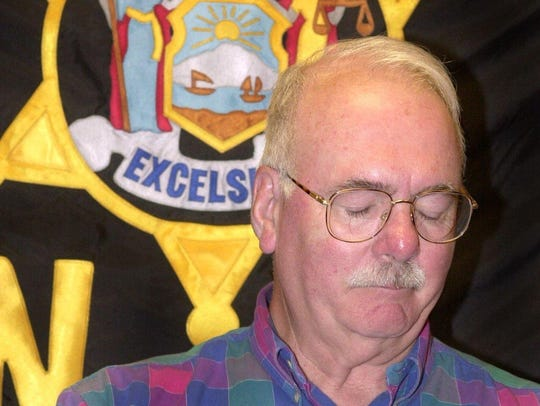 Broome County Sheriff Davd Harder fights back tears