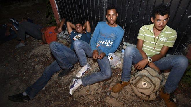 Migrantes centroamericanos en su paso por México.