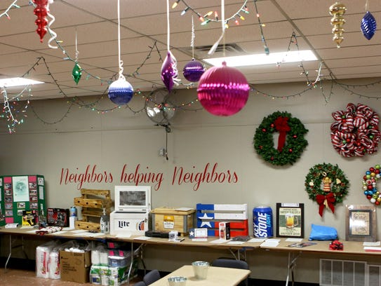 The Christmas in Action office is decorated year-round