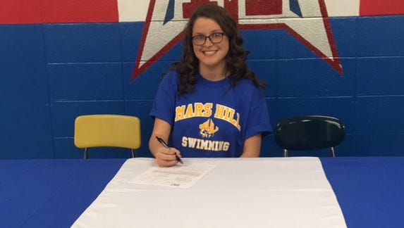 McDowell senior Emma Welborn has signed to swim in college for Mars Hill.