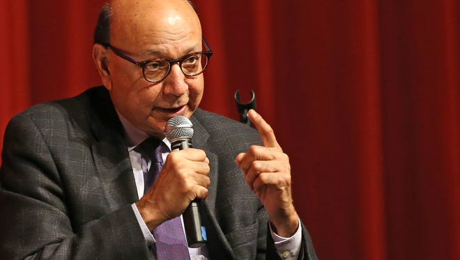 Khizr Khan talks about his time studying the constitution at Central High School on Dec.10, 2017 in Phoenix. Khizr Khan and his wife Ghazala Khan are the Pakistani American parents of United States Army Captain Humayun Khan, who was killed in 2004 during the Iraq War.