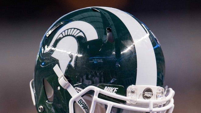 An MSU football helmet.
