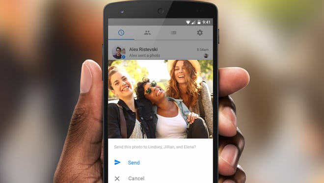 A new update to Facebook Messenger will use facial recognition to alert you to share photos with friends.