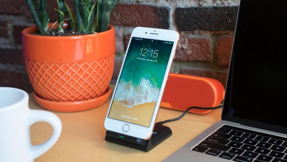 Check your notifications while charging your phone—wirelessly.