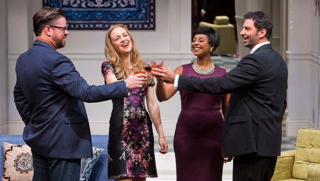"Arizona Theatre Company's production of ""Disgraced"" stars (from left) Richard Baird, Allison Jean White, Nicole Lewis and Elijah Alexander."