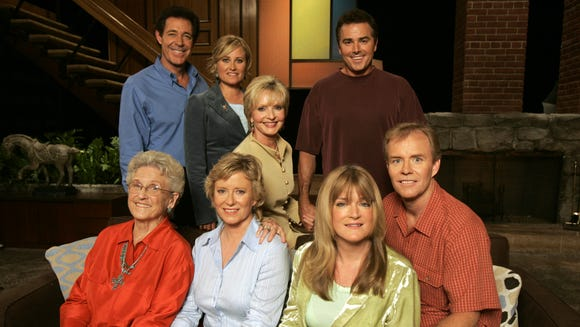 Maureen McCormick (second from top left) is best known for her role as Marcia Brady in 'The Brady Bunch,' photographed for USA TODAY in 2004.