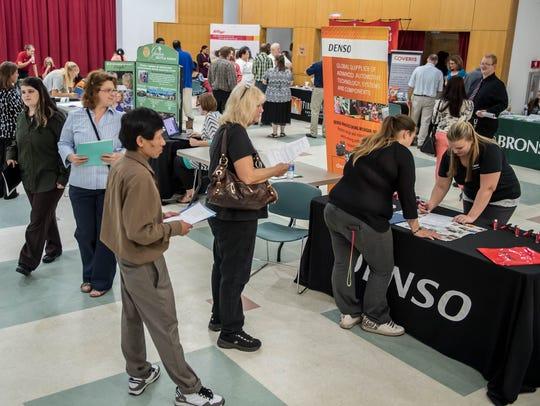 Several area companies were at BC Vision's job fair