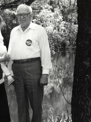 In this May 22, 1990, file photo, Michael Karkoc whom The Associated Press exposed as a former commander in an SS-led unit is shown in Lauderdale, Minn. German prosecutors say Friday, July 31, 2015, they've shelved their Nazi war crimes investigation of Karkov, saying the 96-year-old is not fit for trial. (Chris Polydoroff/The St. Paul Pioneer Press via AP, File)