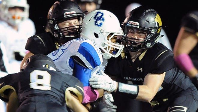 Franklin and Oak Creek will meet at 7 p.m. Friday at Oak Creek. Franklin has won eight of the rivals' past 10 meetings.