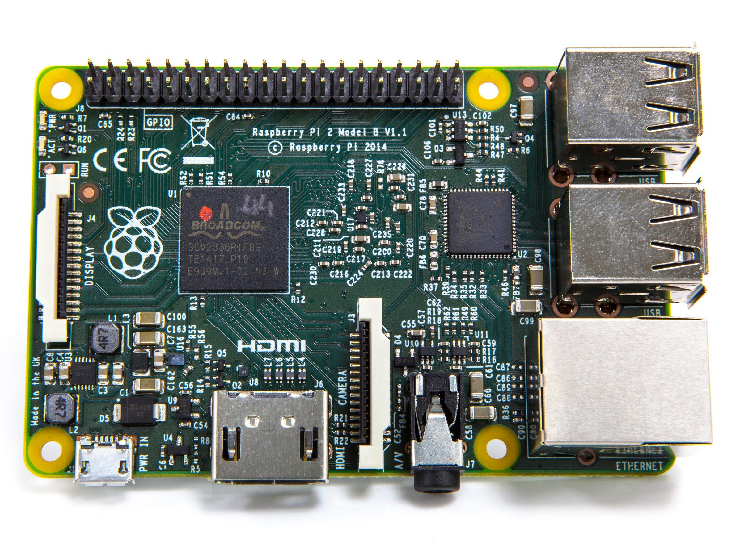 The Raspberry Pi 2 (Model B).