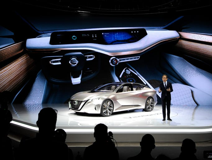 Nissan introduced the Vmotion 2.0 concept vehicle,