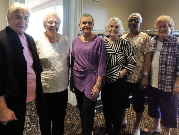 Janet Oliver, left, Barbara Hatfield, Marlene Massa,