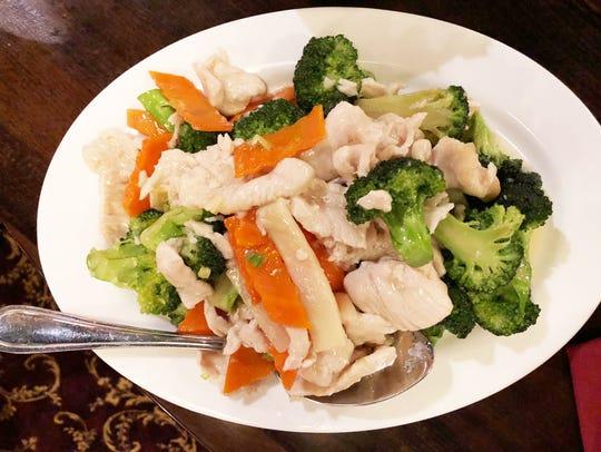Broccoli chicken entree.