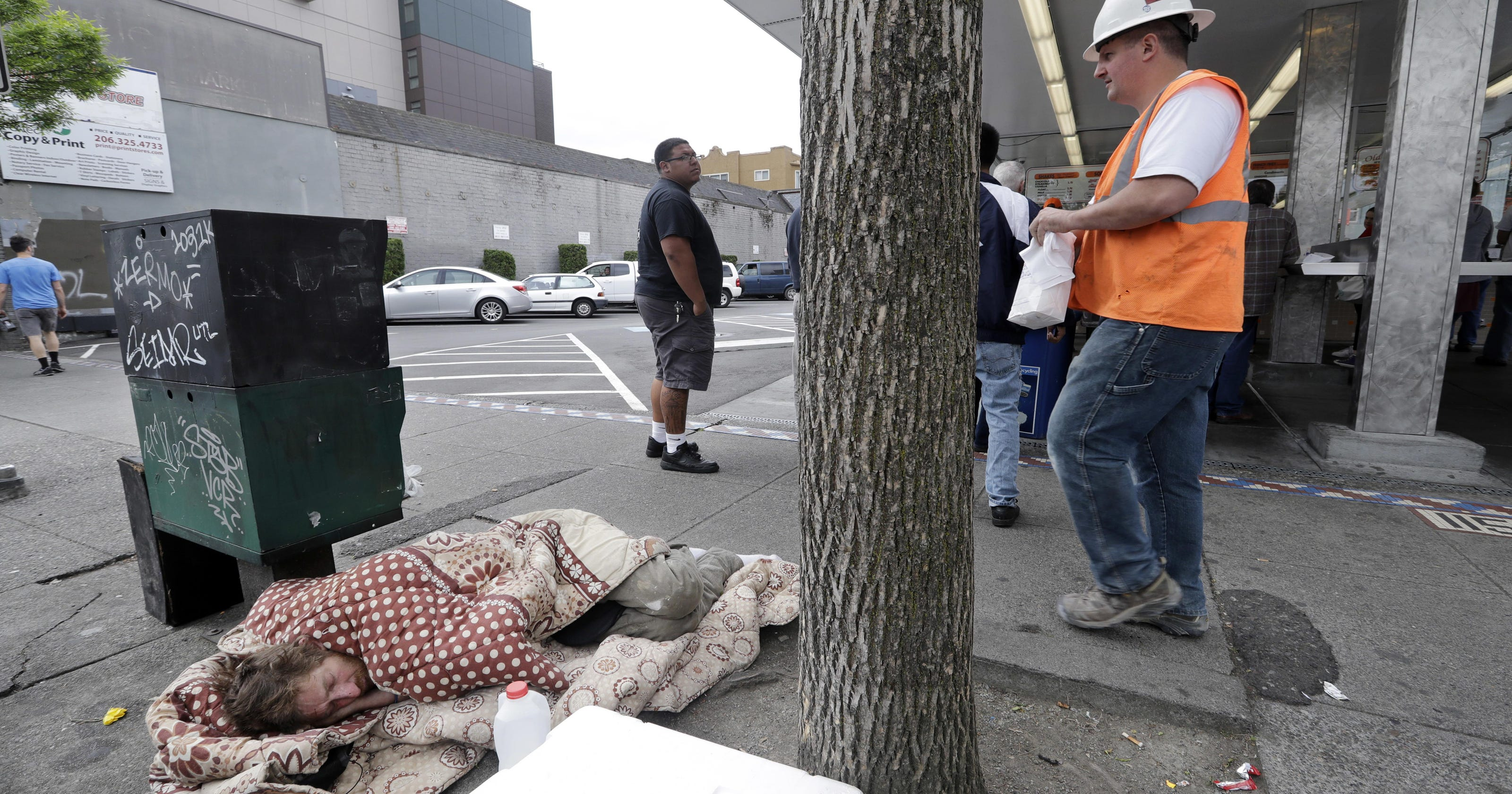 Homeless count up slightly, but declines in key cities