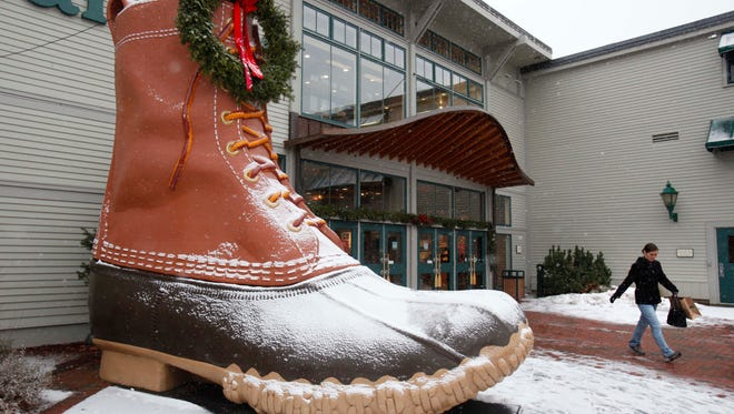 Entrance to the L.L. Bean retail store in Freeport, Maine in December 2010.